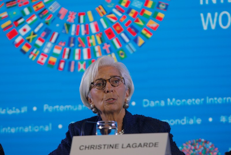 IMF Managing Director Christine Lagarde speaks during International Monetary Fund - World Bank Annual Meeting 2018 in Nusa Dua, Bali