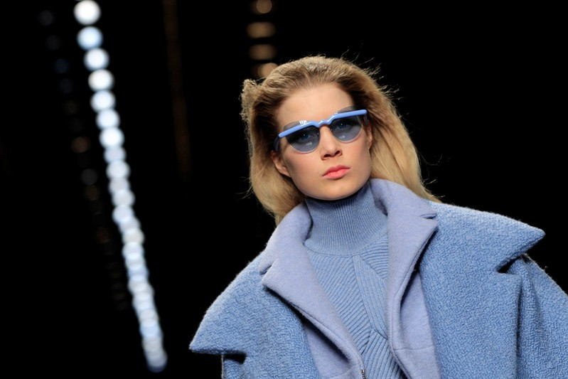 FILE PHOTO: A model presents a creation by French designer Henry as part of his Fall-Winter 2013/2014 women's ready-to-wear for fashion show for house Carven in Paris