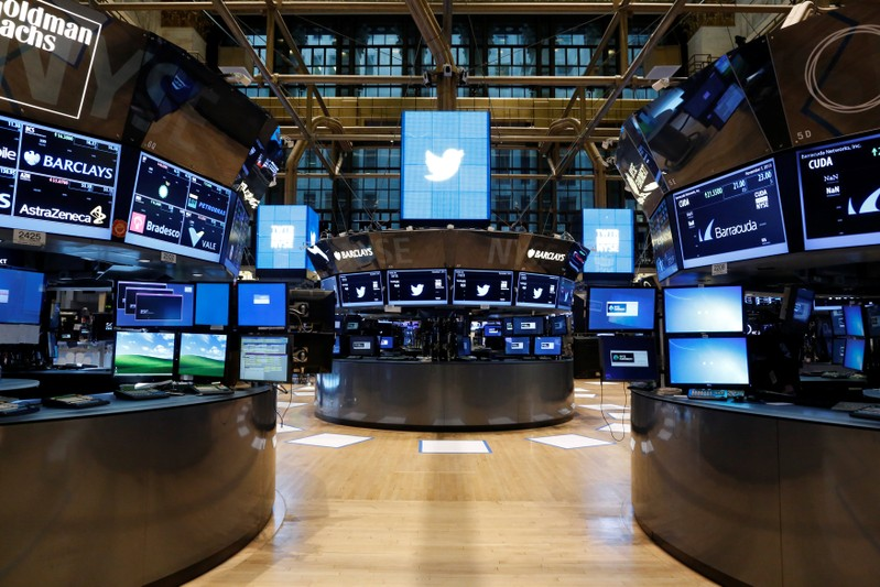 FILE PHOTO: The floor of the NYSE stands ready for the Twitter Inc. IPO in New York
