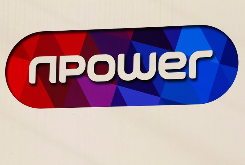 FILE PHOTO: A sign hangs outside an npower building in Solihull