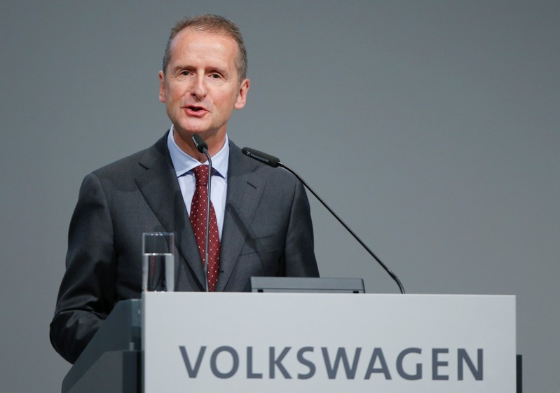 FILE PHOTO: Diess, Volkswagen's new CEO, attends the Volkswagen Group's annual general meeting in Berlin