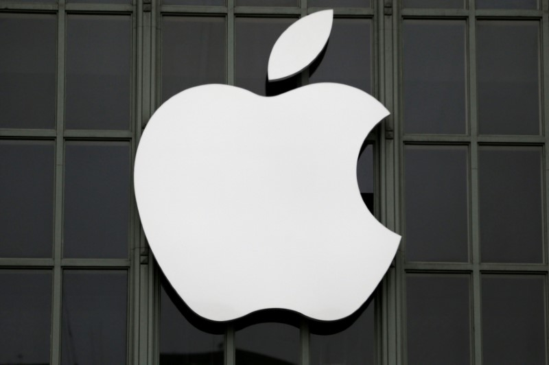 FILE PHOTO:  The Apple Inc. logo is shown outside the company's 2016 Worldwide Developers Conference in San Francisco