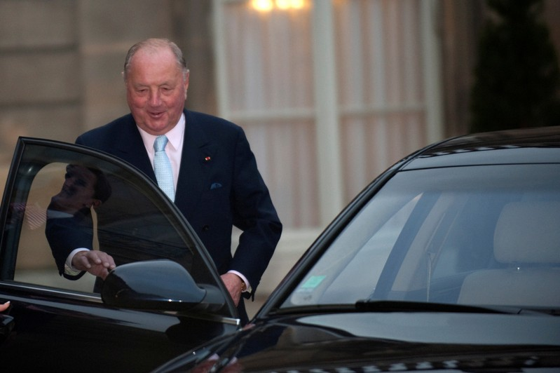 FILE PHOTO: Belgium businessman Frere leaves the Elysee Palace in Paris