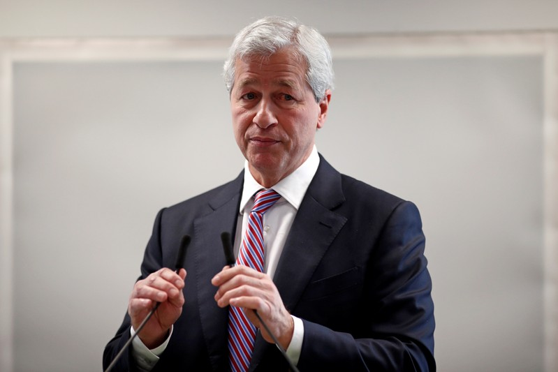 Jamie Dimon, CEO of JPMorgan Chase, attends the launching of the Advancing Cities Challenge in Patin