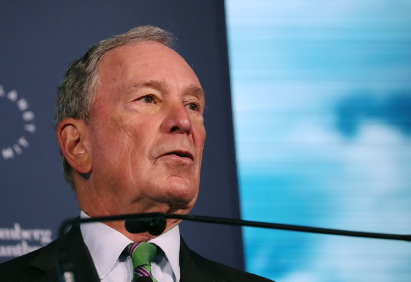 Michael Bloomberg speaks at the Bloomberg Global Business Forum in New York