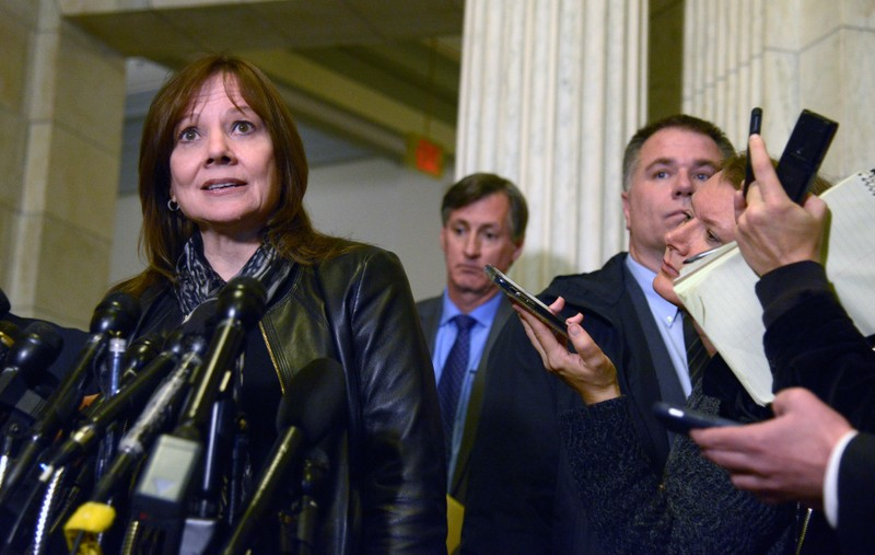 GM CEO Mary T. Barra visits Ohio Senators on Capitol Hill