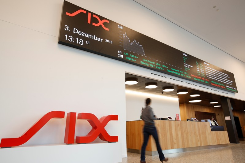 FILE PHOTO:  Logo Swiss stock exchange operator SIX Group is seen in Zurich