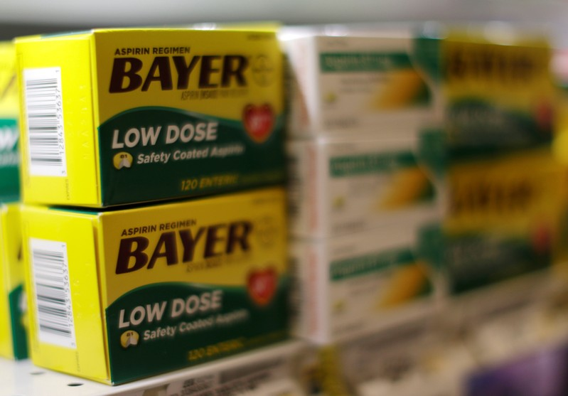 FILE PHOTO: Bayer aspirin is seen at the Safeway store in Wheaton Maryland