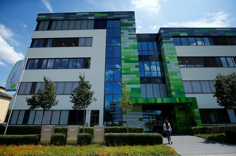 The headquarters of biopharmaceutical company BioNTech are seen in Mainz