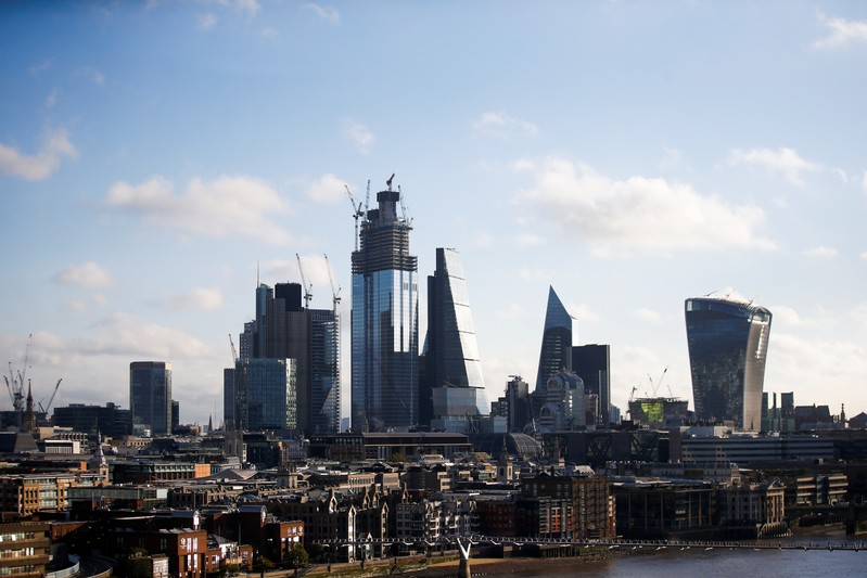 FILE PHOTO: The City of London can be seen from the Sea Containers building in London