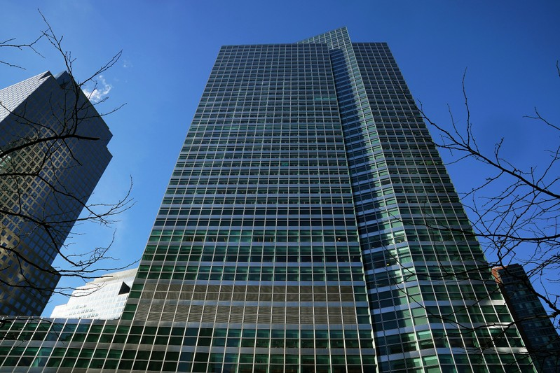 FILE PHOTO: The Goldman Sachs Headquarters building is pictured in the Manhattan borough of New York City