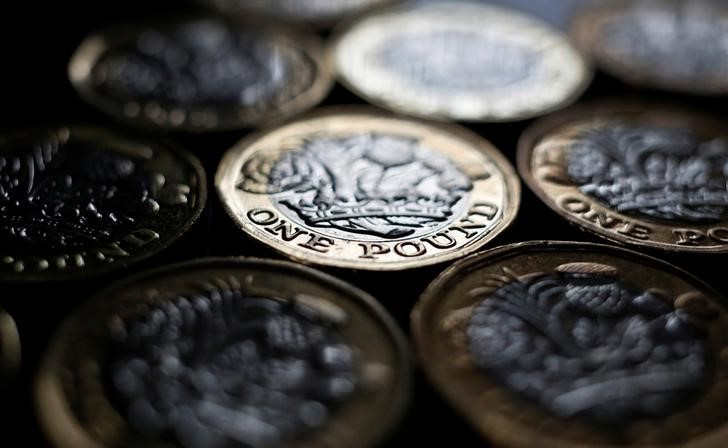 FILE PHOTO: Pound coins are seen in the photo illustration taken in Manchester, Britain