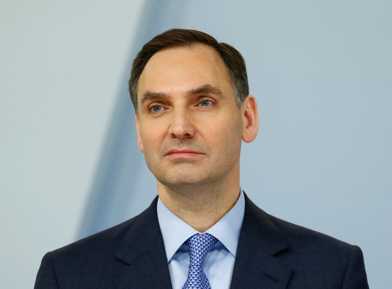 von Moltke, CFO of Germany's Deutsche Bank is pictured in Frankfurt