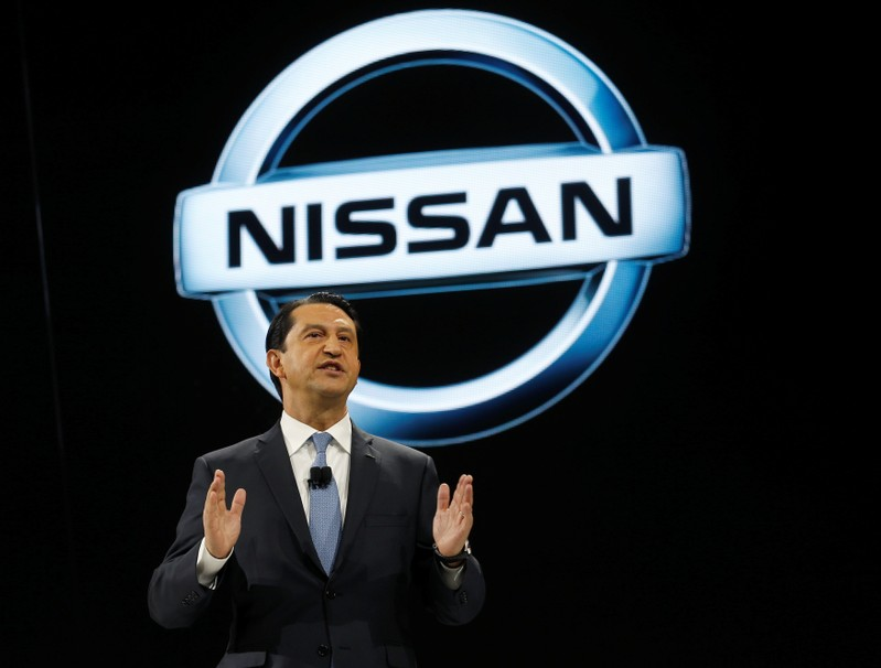 Jose Munoz, Chairman of Nissan North America, speaks during the North American International Auto Show in Detroit