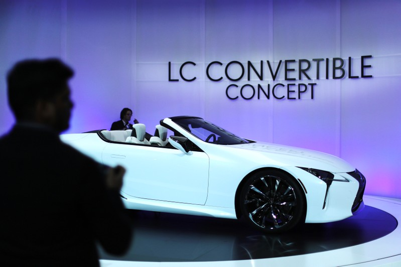 Lexus LC Convertible concept car is shown at the North American International Auto Show in Detroit, Michigan