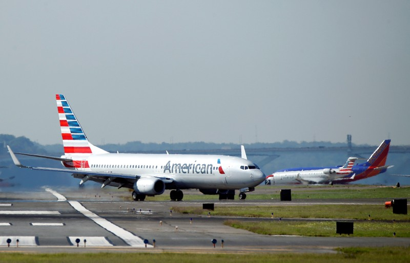 FILE PHOTO An American Airlines Jet Taxis On The Runway At Washington National Airport In