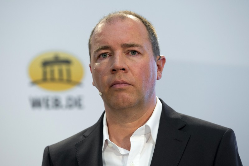United Internet CEO Dommermuth attends a news conference to present a joint initiative for encrypted email with Deutsche Telekom in Berlin