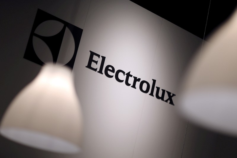 FILE PHOTO: The Electrolux logo is seen during the IFA Electronics show in Berlin