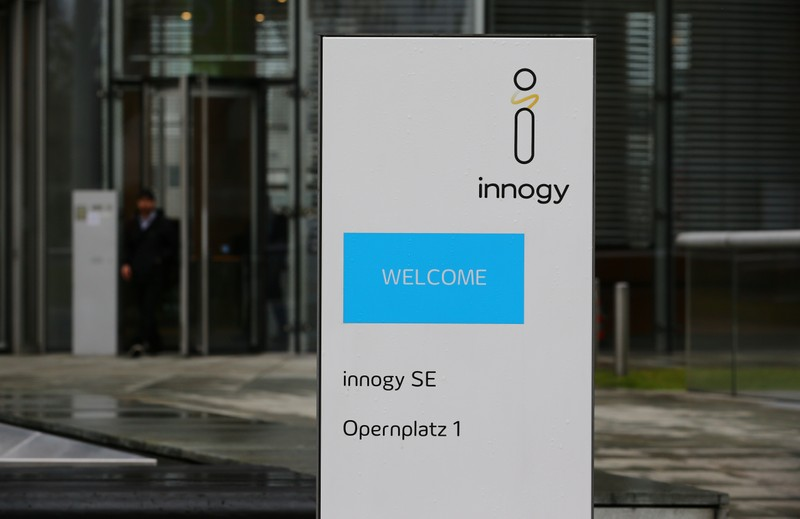 Innogy logo before the company's annual news conference in Essen