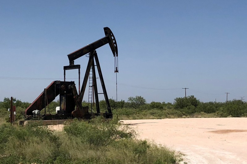 FILE PHOTO: A pumpjack is shown outside Midland-Odessa area in the Permian basin in Texas