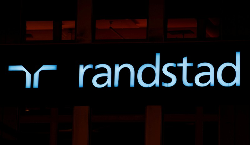 FILE PHOTO - Logo of personnel service provider Randstad is seen in Zurich