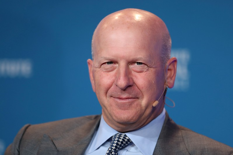 FILE PHOTO: David M. Solomon, President and Chief Operating Officer, Goldman Sachs, speaks at the Milken Institute's 21st Global Conference in Beverly Hills