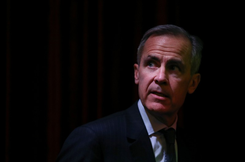 The Governor of the Bank of England, Mark Carney arrives at an FT event in London