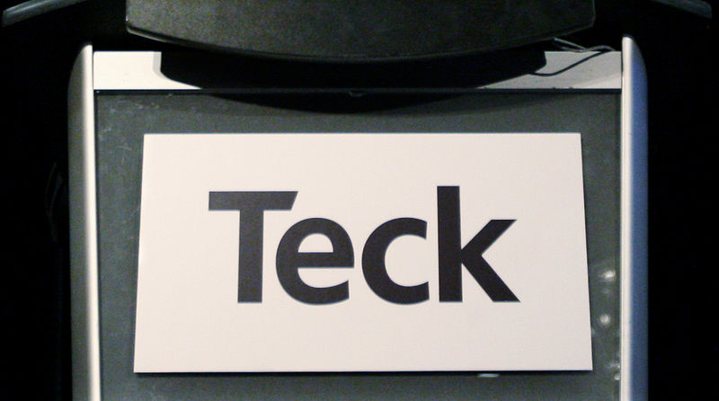 FILE PHOTO: Teck Resources sign is on display during the company's annual general meeting in Vancouver