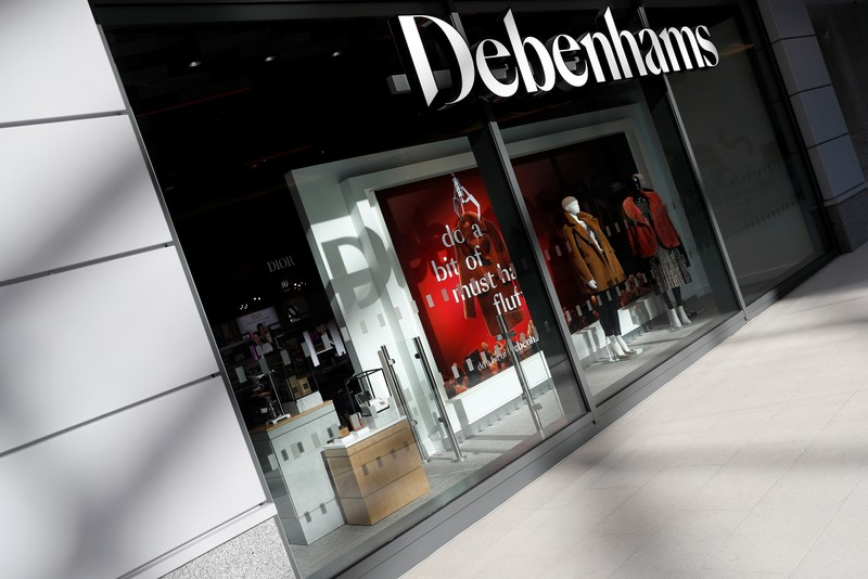 FILE PHOTO: New Debenhams department store is seen in a shopping centre in Watford