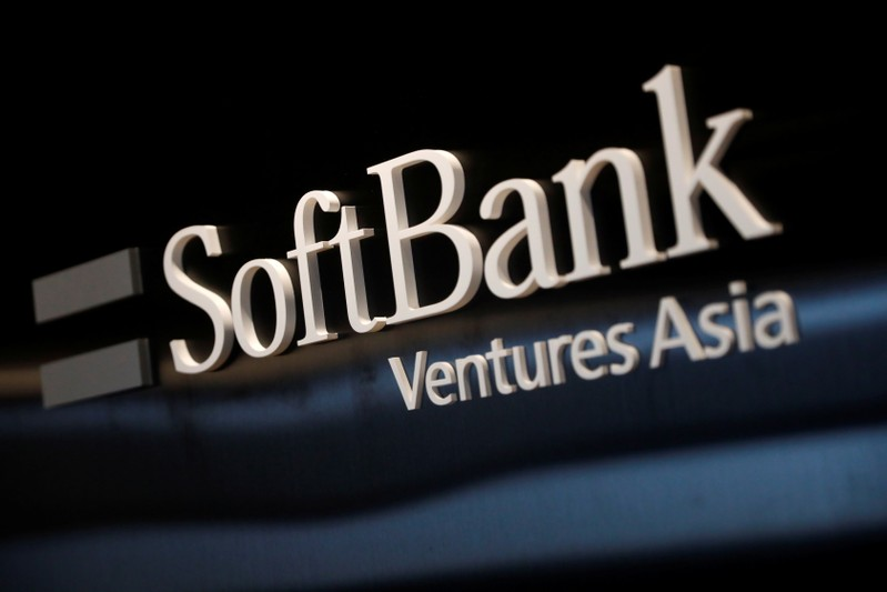 The logo of SoftBank Ventures Asia is seen at the company in Seoul