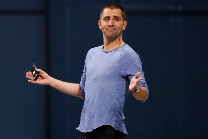 FILE PHOTO: Facebook Chief Product Officer Chris Cox speaks at Facebook Inc's annual F8 developers conference in San Jose