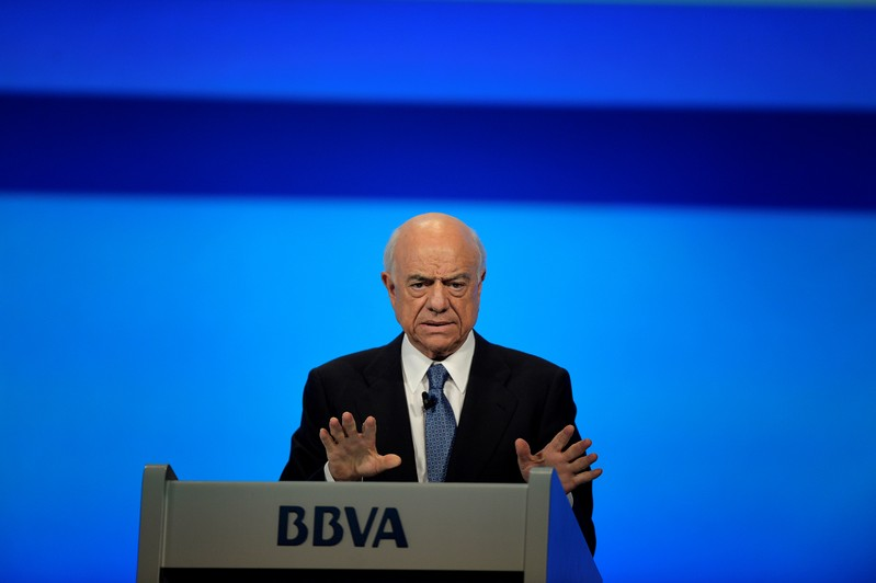 FILE PHOTO: BBVA Chairman Francisco Gonzalez addresses the Annual General Meeting of Shareholders in Bilbao