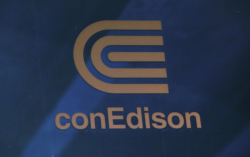 A logo of New York power utility Consolidated Edison Inc is seen in New York