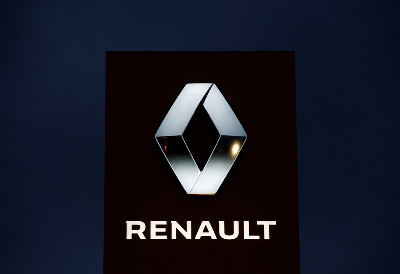 FILE PHOTO: The logo of French car manufacturer Renault is seen at a dealership of the company in Illkirch-Graffenstaden near Strasbourg