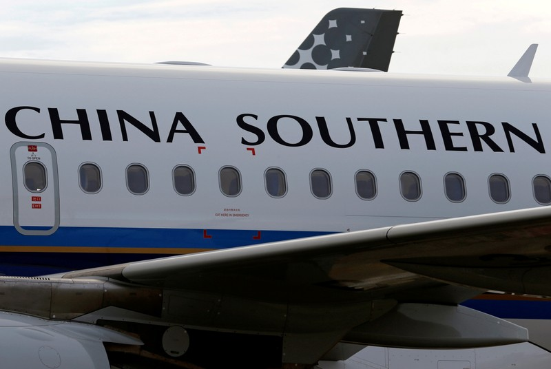 China Southern Airlines Airbus commercial passenger aircraft is pictured in Colomiers near Toulouse