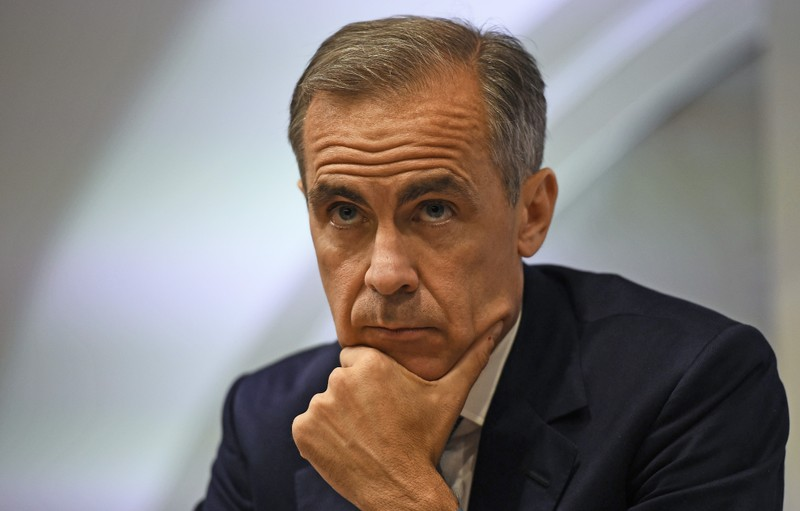 File photo of Bank of England governor Mark Carney during a news conference at the Bank of England in London