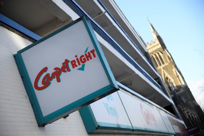 A branch of Carpetright is seen in south west London