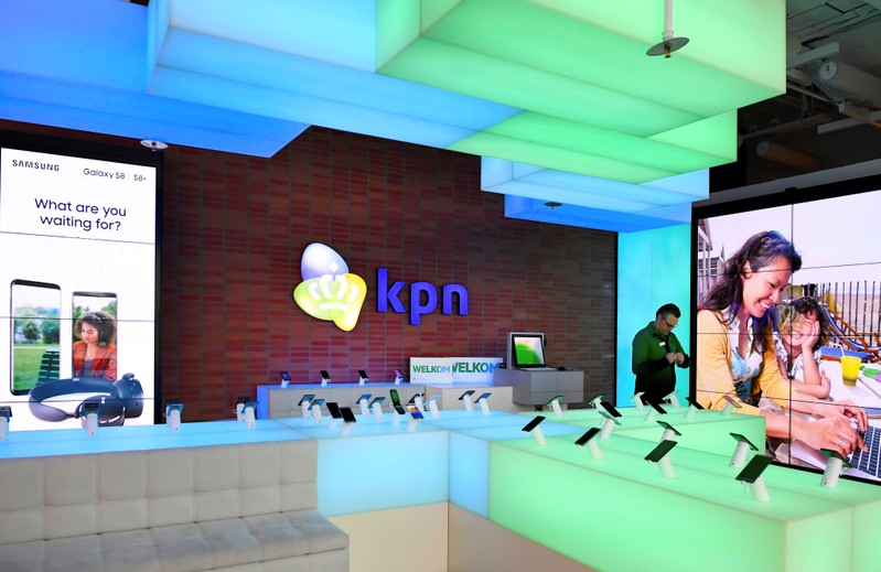 KPN shop is seen at its headquarters in Rotterdam