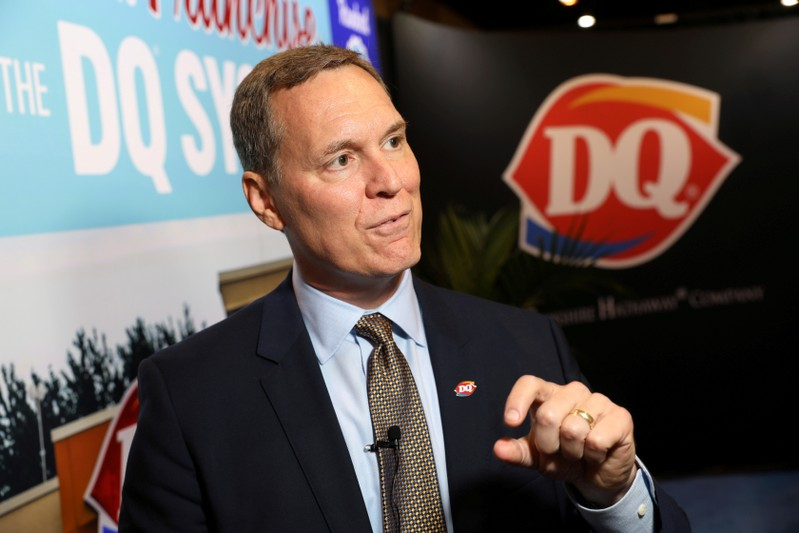 FILE PHOTO: Troy Bader, Cheif Executive of Dairy Queen, a unit of Berkshire Hathaway, at the annual Berkshire shareholder shopping day in Omaha