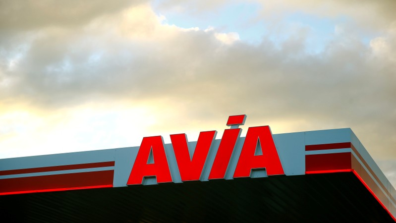 Logo of Avia is seen at a petrol station in Ruemlang