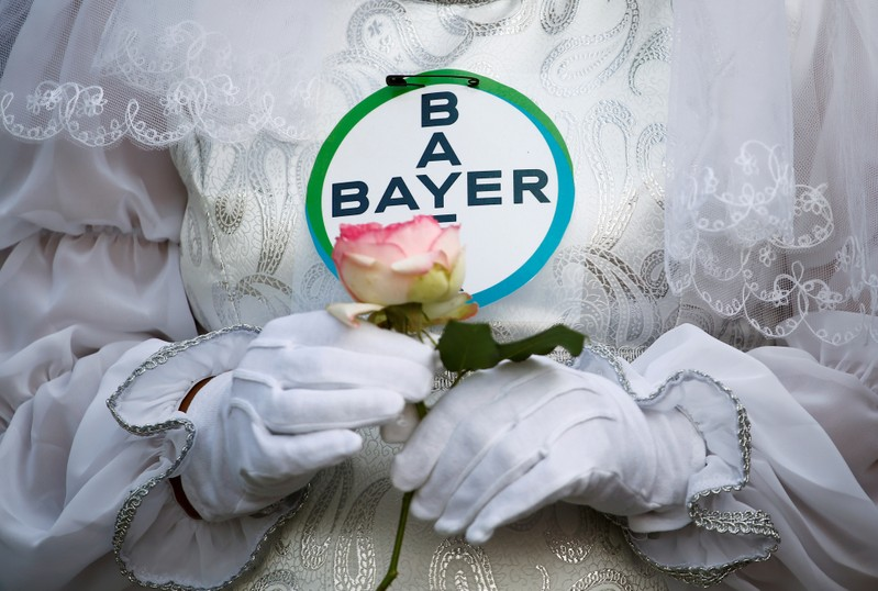 Protest against the merger of Bayer AG and Monsanto in Bonn