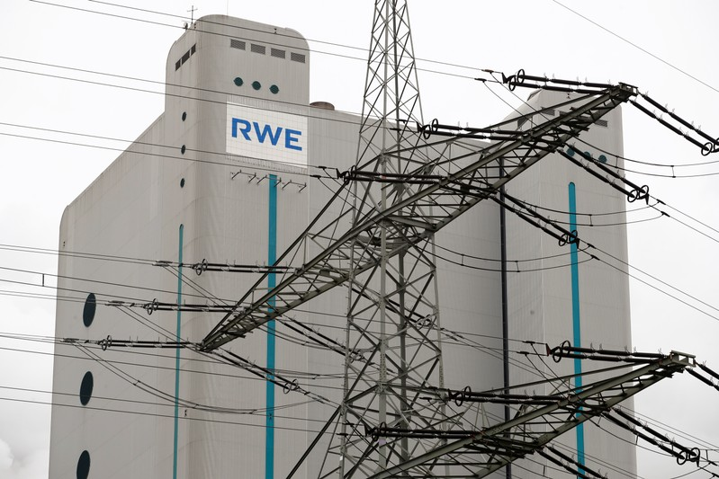 Lignite-fired Niederaussem power plant of RWE, one of Europe's biggest utilities in Niederaussem near Cologne