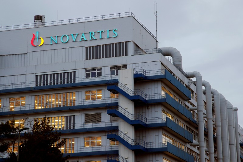 FILE PHOTO: FILE PHOTO: Logo of Swiss drugmaker Novartis is seen at its branch in Schweizerhalle near Basel