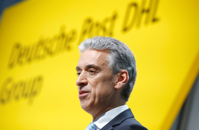 German postal and logistics group Deutsche Post DHL annual news conference in Bonn
