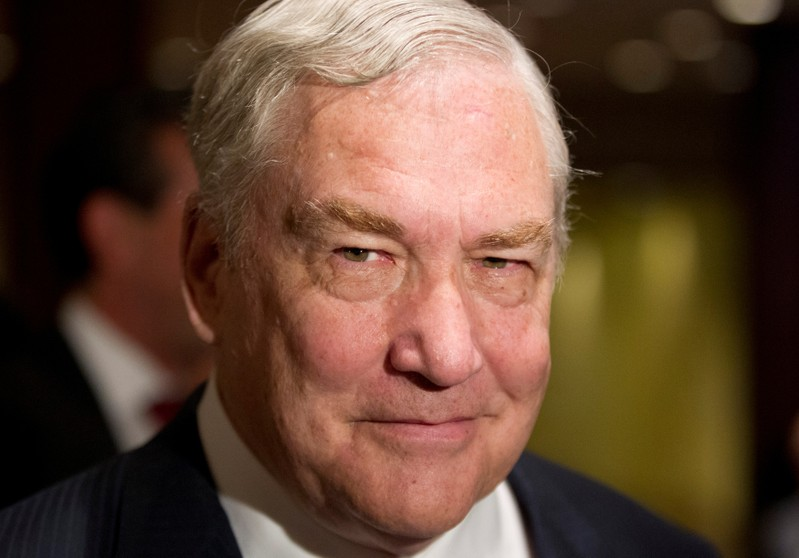 FILE PHOTO: Former media mogul Conrad Black arrives at a business luncheon where he will be making a speech in Toronto