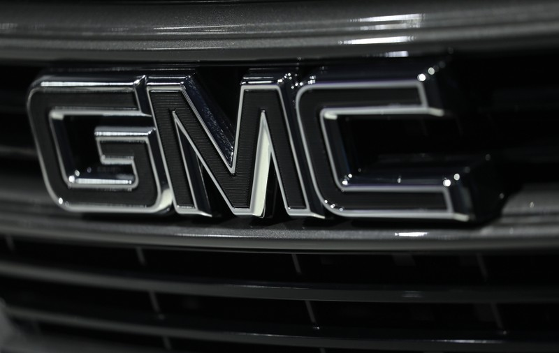 FILE PHOTO: The GMC logo is seen at the North American International Auto Show in Detroit, Michigan
