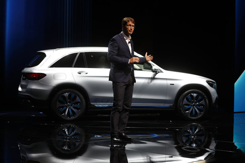FILE PHOTO: Kaellenius, a board member of Daimler AG presents the new Mercedes GLC F-CELL during the Frankfurt Motor Show (IAA) in Frankfurt