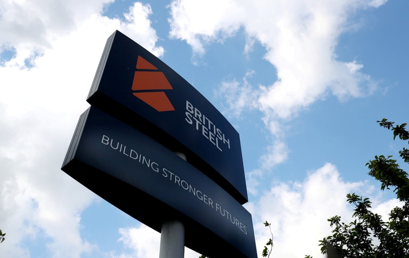 FILE PHOTO: A British Steel works sign is seen in Scunthorpe