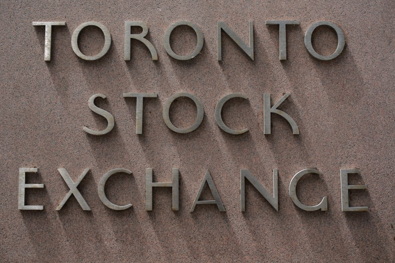 The Toronto Stock Exchange sing is seen in Toronto