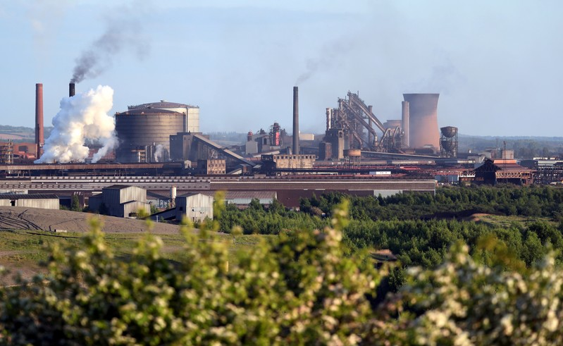 FILE PHOTO: A general view shows the British Steel works in Scunthorpe